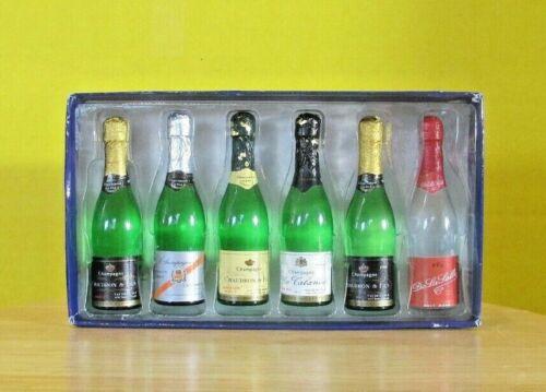 Rare Vintage 1975 Alpa set 6 miniature champagne bottles Exact as actual bottle