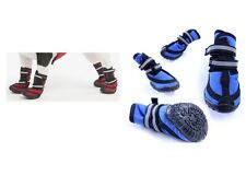 Fleece Boots for Dog - Red or Blue - 4 Size - Sporty waterproof Elastic straps