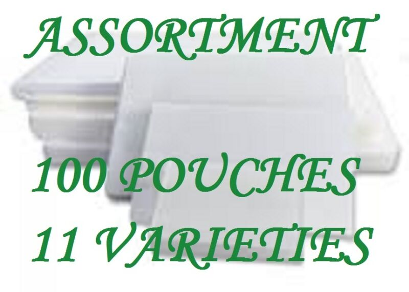 ASSORTMENT PACK Laminating Laminator Pouches 11 VARIETIES 100 PC LETTER 3 Mil CQ
