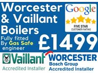 £1499 Worcester & Vaillant Supply & Fit/Expert Boiler Installation,Repair & Service/Gas certificate