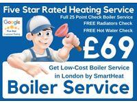 25 Point Boiler Service / Repair /Expert Boiler Installation /Supply & Fit Boiler Deals /GAS SAFE