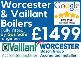 £1499 Worcester & Vaillant Installed! Full Package Deal/Boiler Installation/Replacement/Swap/Repair
