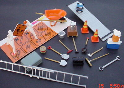 26 Pc Construction Set 1/24 Scale Diorama Items