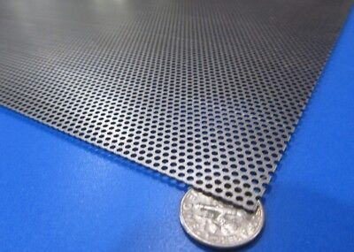 Perforated Staggered Steel Sheet .030 Thick X 24 X 24 .062 Hole Dia.