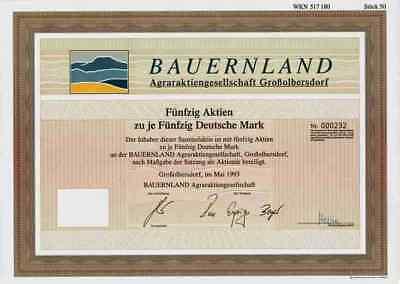 Bauernland Agrar AG Großolbersdorf 1993 Marienberg Hilmersdorf Zschopautal 2500