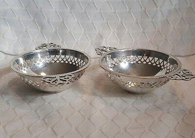 2 Schalen / Schälchen Birmingham England Silber