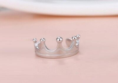 Super Adorable Royal *Crown* 925 Sterling Silver Adjustable Toe Ring!