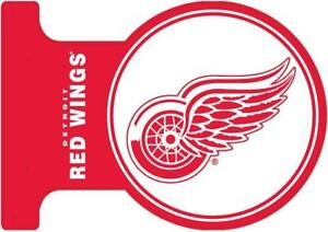Detroit Red Wings Double Sided Metal Flange Sign (New) Calgary Alberta Preview