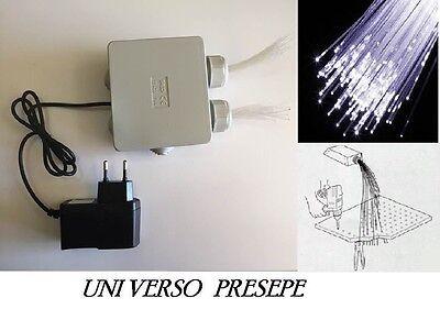 Illuminatore fibre ottiche per presepe doppia uscita a luce fredda fissa