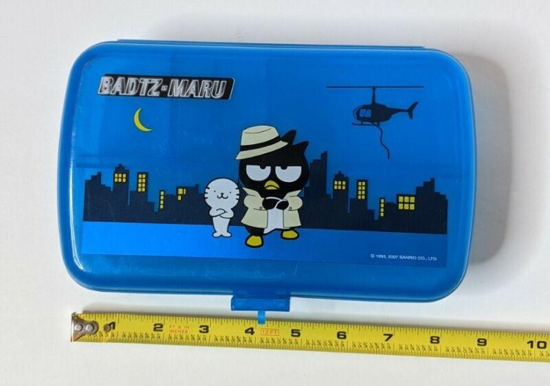 Badtz Maru blue Pencil Box. Sanrio, 2007. Used