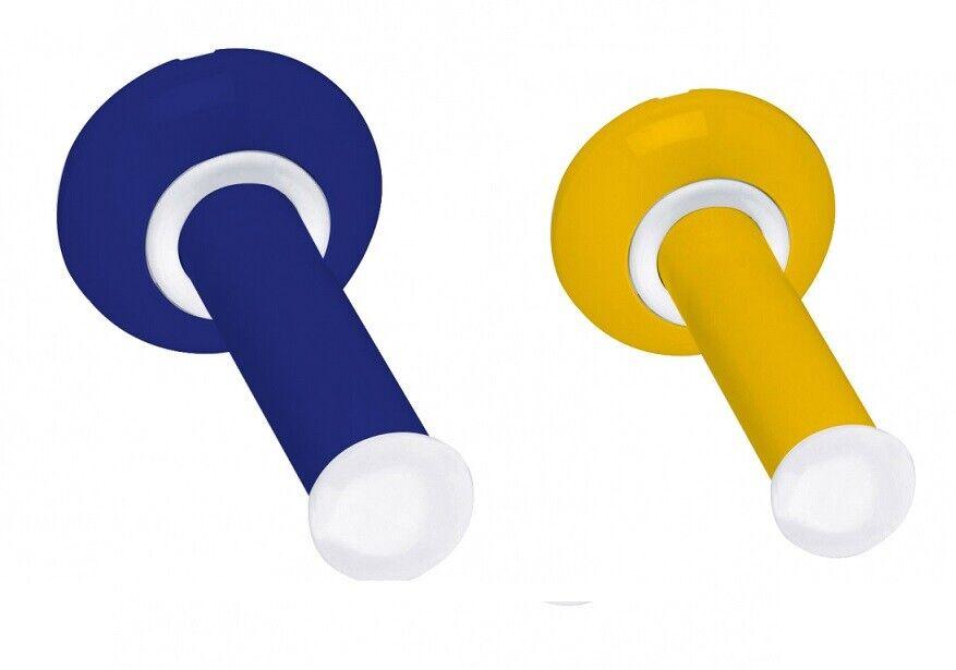Toilettenpapierhalter für Kinder gelb oder blau 132 x 66 mm Klopapierhalter WC