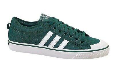 Mens adidas NIZZA Green Trainers B37858 UK 8.5