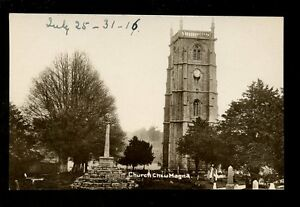 Somerset-CHEW-MAGNA-The-Church-early-PPC-manuscript-dated-1916-on-front