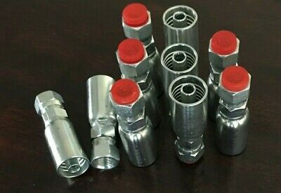 10 Pk Fjx-06-06 38 Hydraulic Hose X 38 Jic Female Swivel Fitting- Hy U