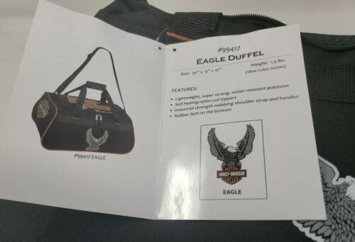 Harley-Davidson Winged Eagle B S Duffel Bag W/ Adjustable Strap - Black - NIP - $54.99