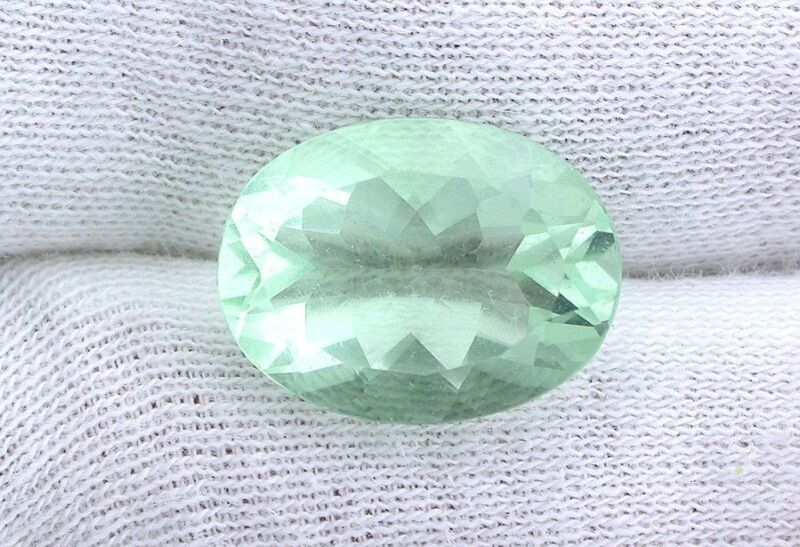 16x12 16mm x 12mm Oval Natural Green Fluorite Faceted Gemstone Gem Stone EBS8235