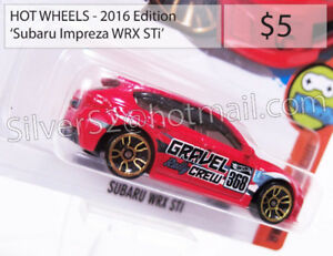 HOT WHEELS '2016 Ed. 'SUBARU Impreza WRX STi Hatchback (Red)