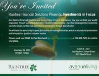 Raintree Financial Solutions and Avenue Living November 30