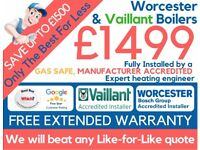 £1499 Worcester & Vaillant Installed! Full Package Deal/Boiler Installation/Replacement/Swap/GasSafe
