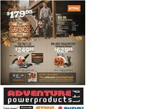 STIHL FALL SAVINGS SALE!! Chainsaw, leaf blowers, trimmers