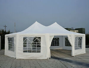 29.2ft High Peak Decagonal Wedding Event Party Tent 10 Removable