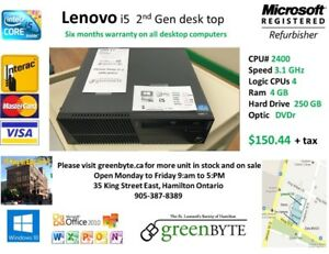 i5 Lenovo sff 2nd GEN 4 GB RAM  250GB HDWin 10 Office 2010