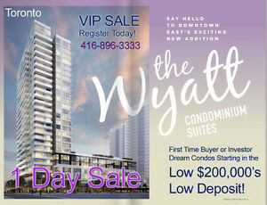 Toronto Condos VIP SALE! LOW $200`s, ONLY 5% - $1,000 Per Month*
