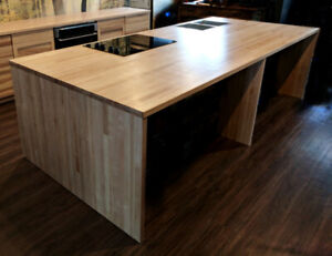 Solid Wood Counters, Bars, Islands, and Table Tops