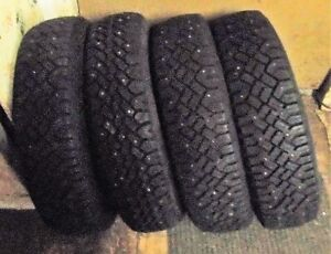 4 - 13 INCH TIRES, LIKE NEW MS - P155 80R 13, SPRINGHILL NS.