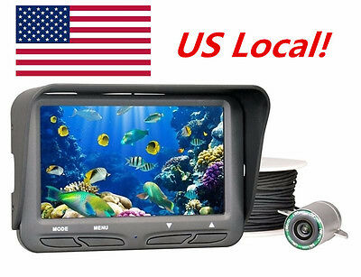 "30M 4.3"" COLOR LCD Ice Fish Finder Underwater Camera Fishing Rod/Ground In US!"