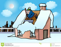 Rooftop/Deck snow removal services