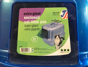 Vaness Extra-Giant Enclosed Cat Litter Pan: NEW