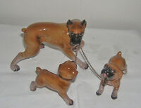 VINTAGE CHINA BOXER DOGS