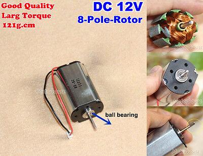 Dc 9v12v 3713rpm High Torque 8-pole Rotor Motor Ball Bearing Dc Motor For Diy