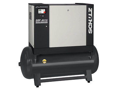 Schulz 15hp Rotary Screw Air Compressor With 61 Gallon Tank 51 Cfm- New
