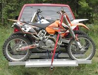 double aluminum motorcycle carrier with ramp