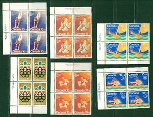 2 LOTS DE TIMBRES XXI OLYMPIADE MONTREAL 1976