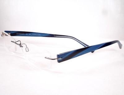 Charmant Eyeglasses CH 0945 Blue Titanium Drill Mount (Drill Mount Eyeglasses)