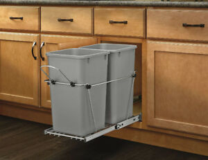 Rev-A-Shelf RV-15KD-17C S-Double 27 quart Pull-Out Waste Contain