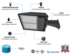 150W LED Parking Lot Light - cUL certified - DLC Listed