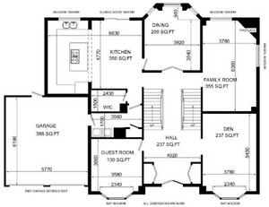 Floor Plans, As Built Layout Drawings