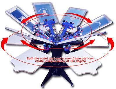 6 Color Silk Screen Printing Machine Precise Press Printer Rotary Equipment Diy