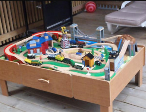 Imaginarium train table with track, trains and accessories