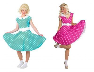 50er Jahre Rock`n Roll Kleid Kostüm Petticoat Rockabilly Polka Punkte - Tanz Rock N Roll Kostüm