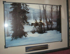 Collectible ~ Framed Glass Picture