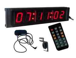 Indoor Mini 1 LED Digital Wall Countdown Clock Timer in Hours:Minutes:Seconds