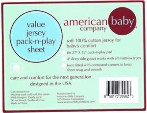 Pack-n-play cotton jersey sheet