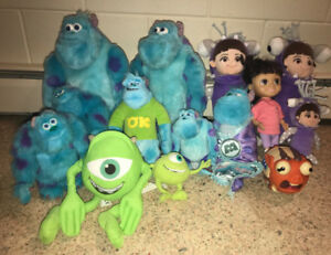 Monsters Inc University Plush Doll Mike Sully Boo Archie Lot