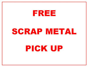 FREE SCRAP METAL PICK-UP - PETERBOROUGH