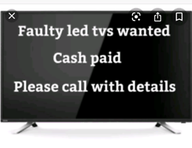 TVs wanted for cash